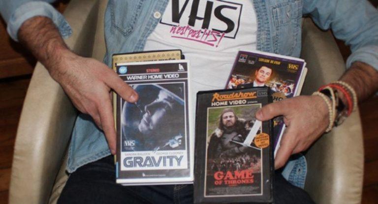 E se seus vídeos e séries favoritas fossem em VHS
